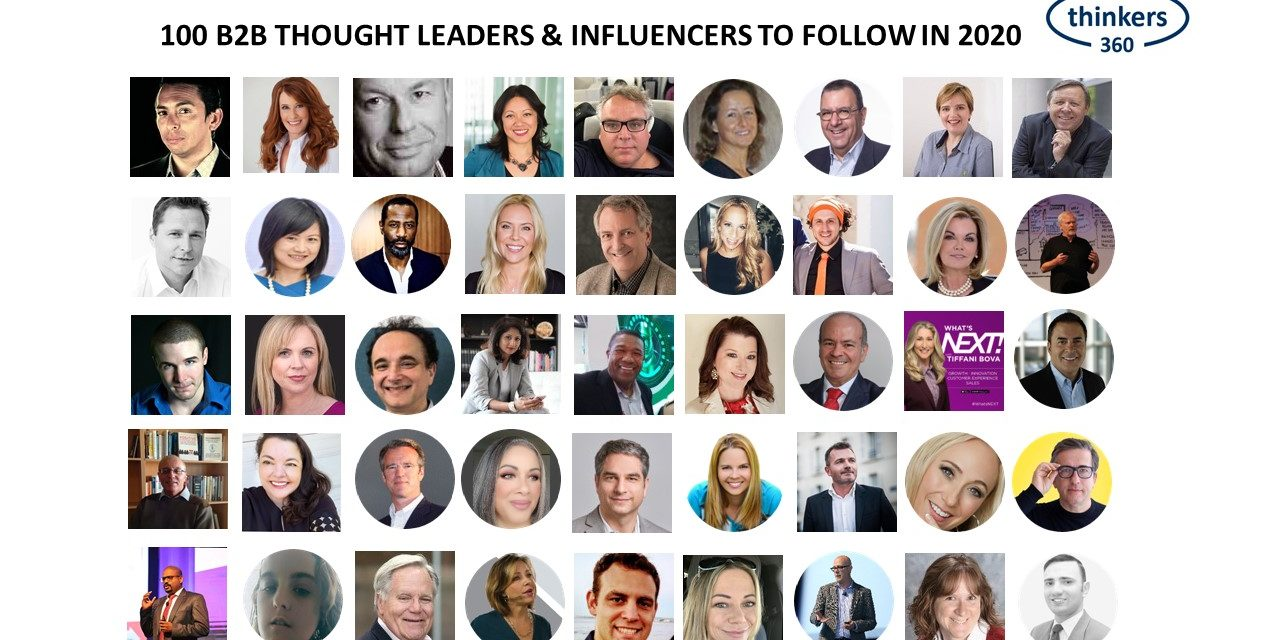 100 B2B Thought Leaders and Influencers to Follow in 2020