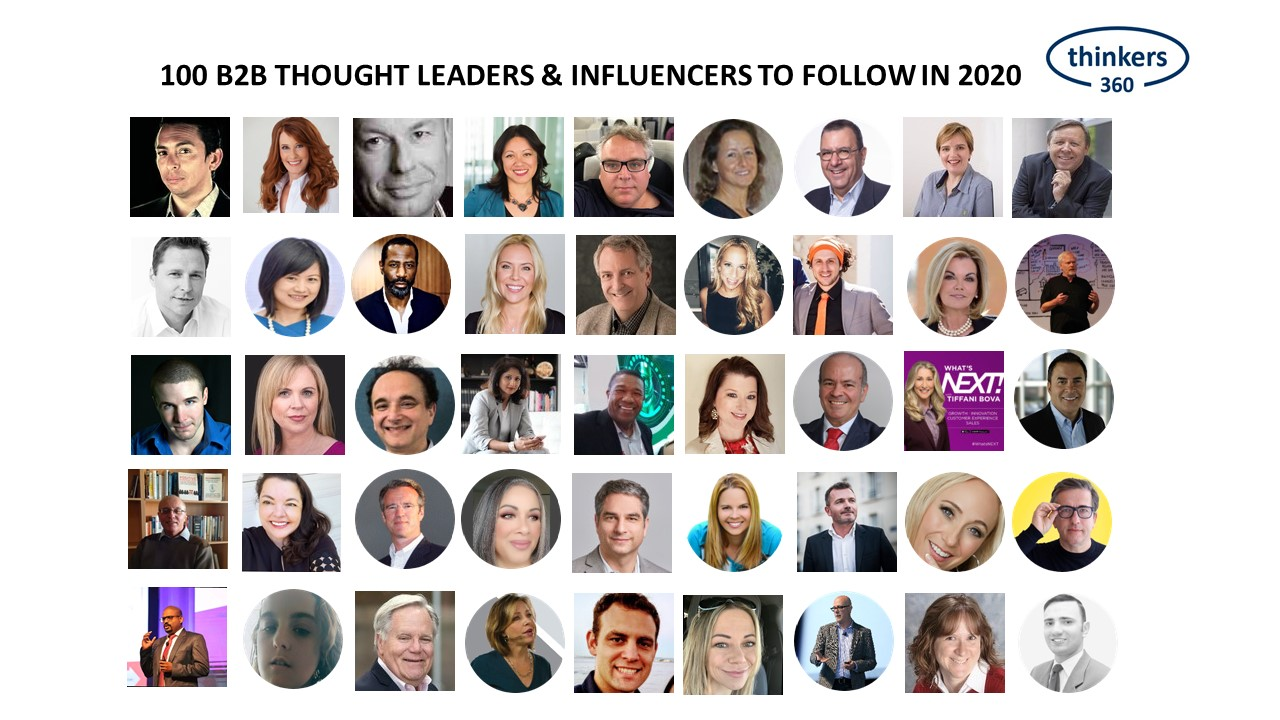 Dana Gardner on LinkedIn: 100 B2B Thought Leaders and Influencers to Follow in 2020